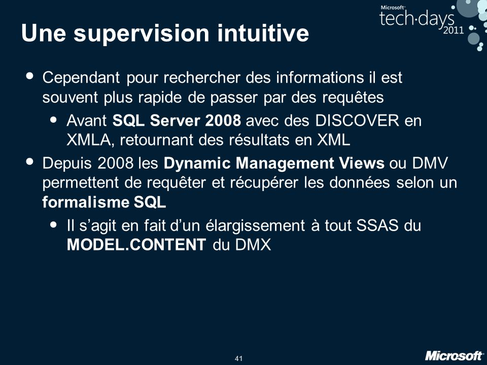 Une supervision intuitive
