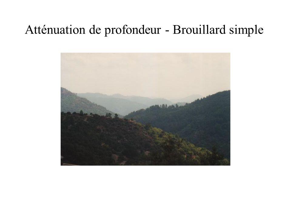 Atténuation de profondeur - Brouillard simple