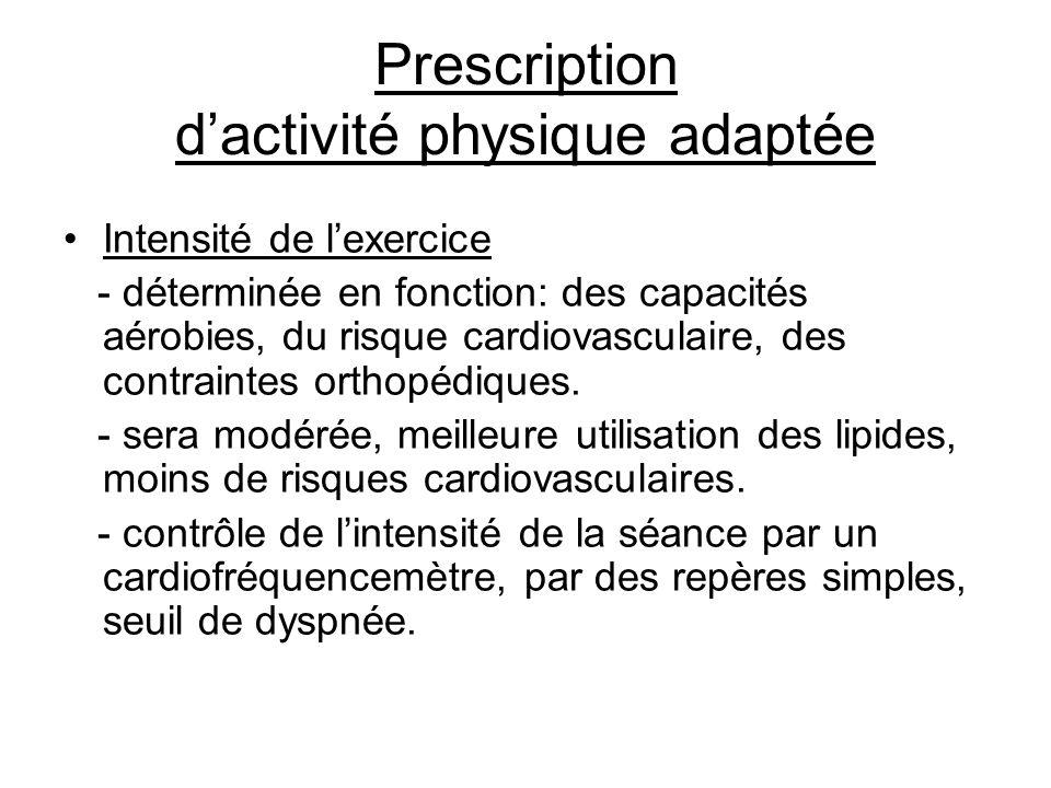 Prescription d'activité physique adaptée