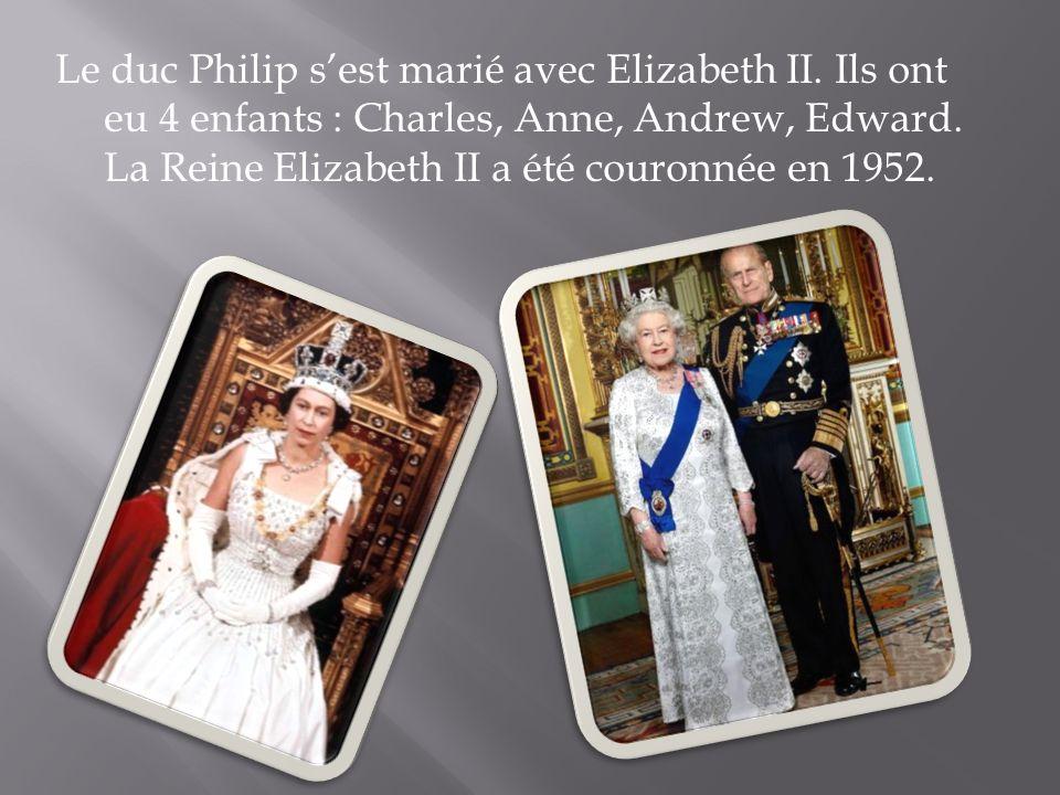 Le duc Philip s'est marié avec Elizabeth II