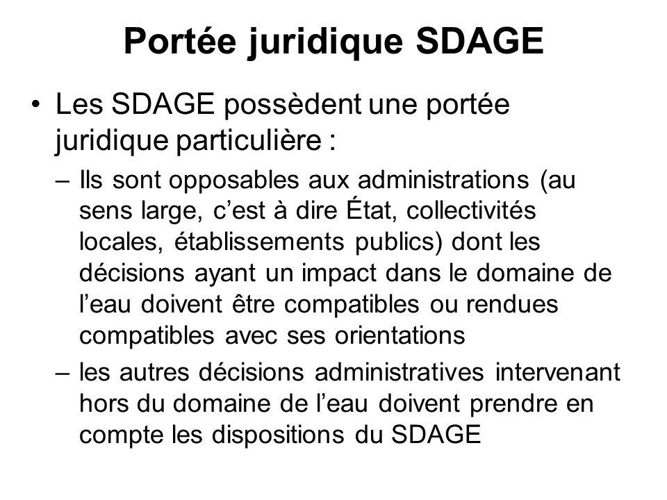Portée juridique SDAGE