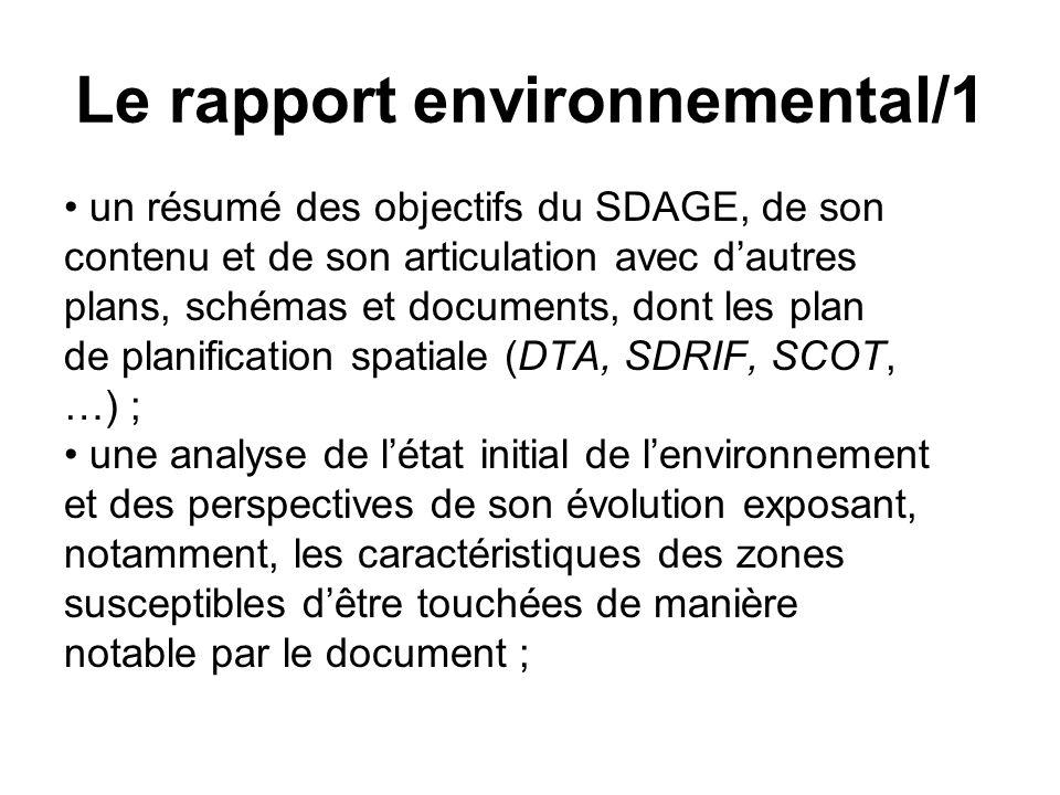 Le rapport environnemental/1