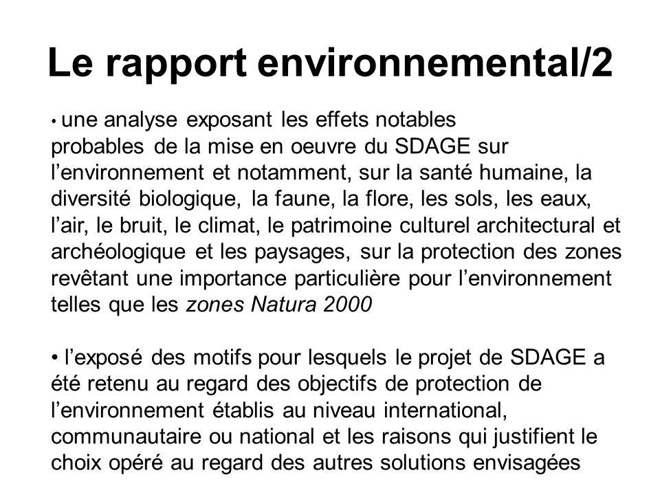 Le rapport environnemental/2
