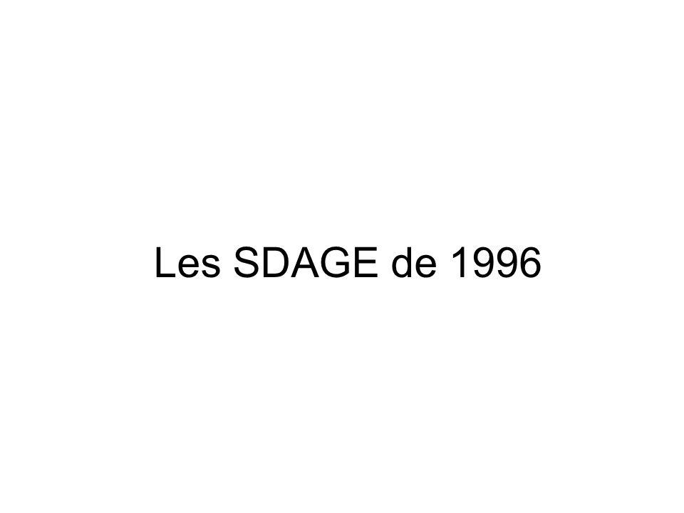 Les SDAGE de 1996