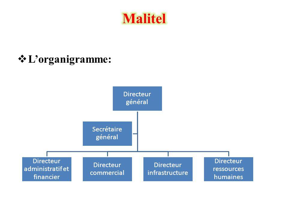 Malitel L'organigramme: Directeur général