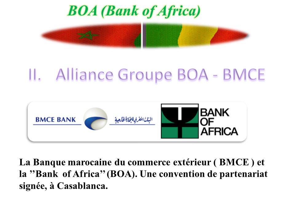 Alliance Groupe BOA - BMCE