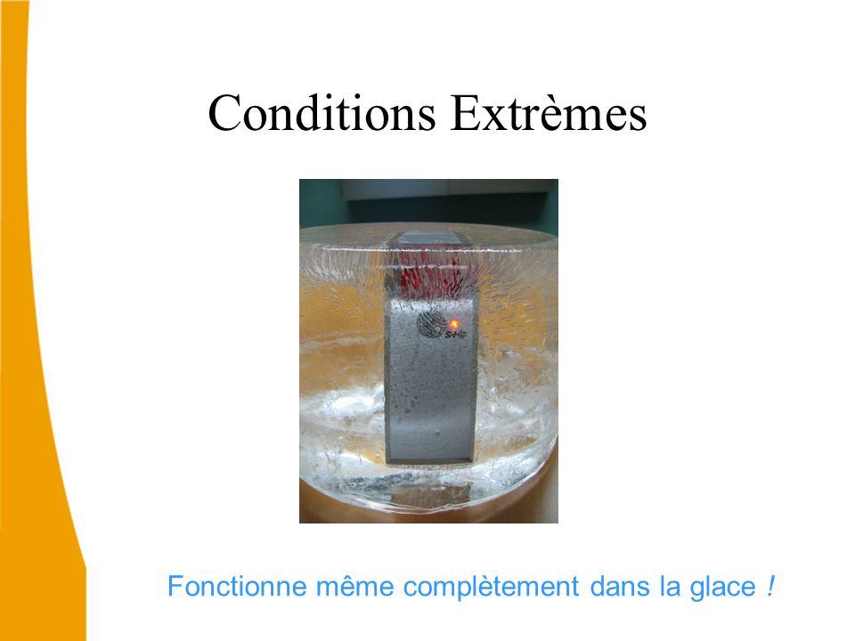 Fonctionne même complètement dans la glace !