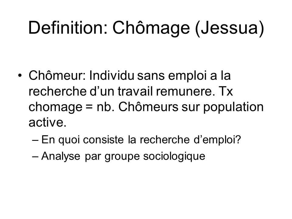 Definition: Chômage (Jessua)