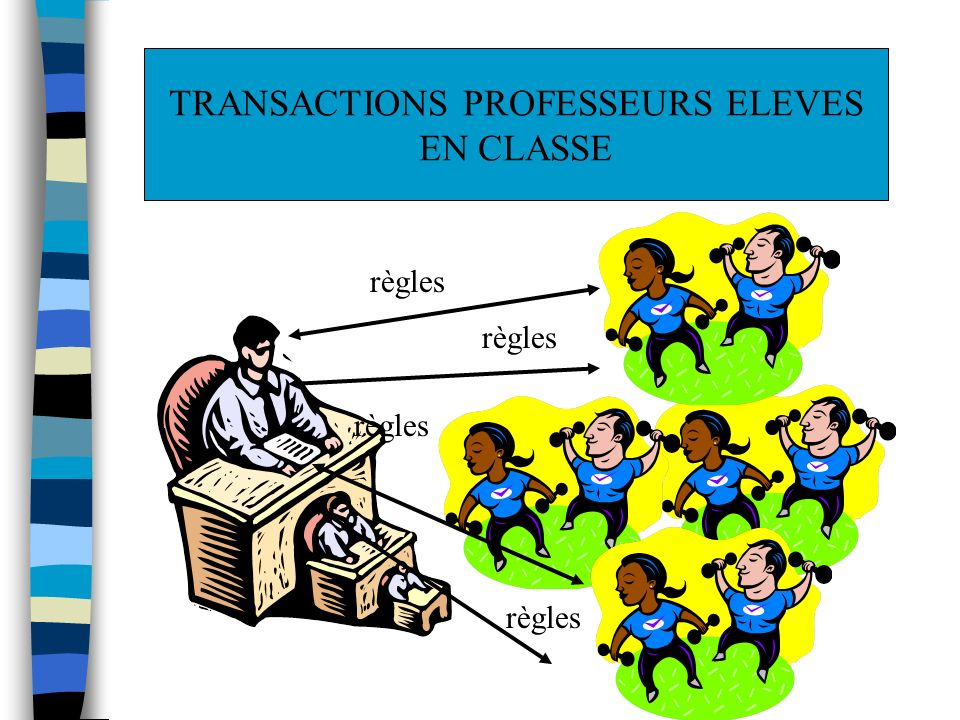TRANSACTIONS PROFESSEURS ELEVES
