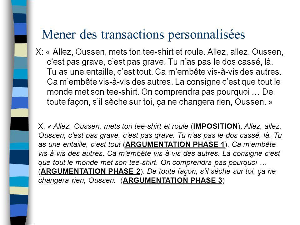 Mener des transactions personnalisées