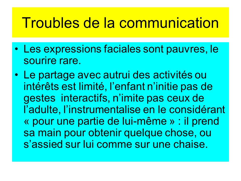 Troubles de la communication