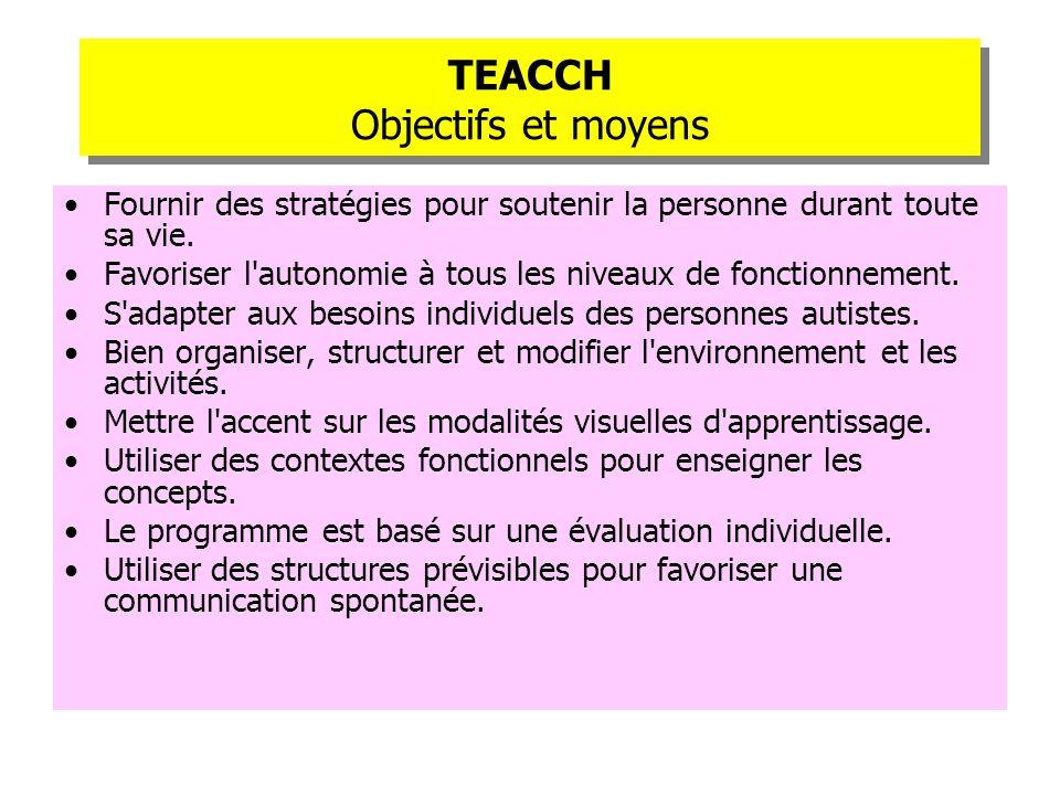 TEACCH Objectifs et moyens