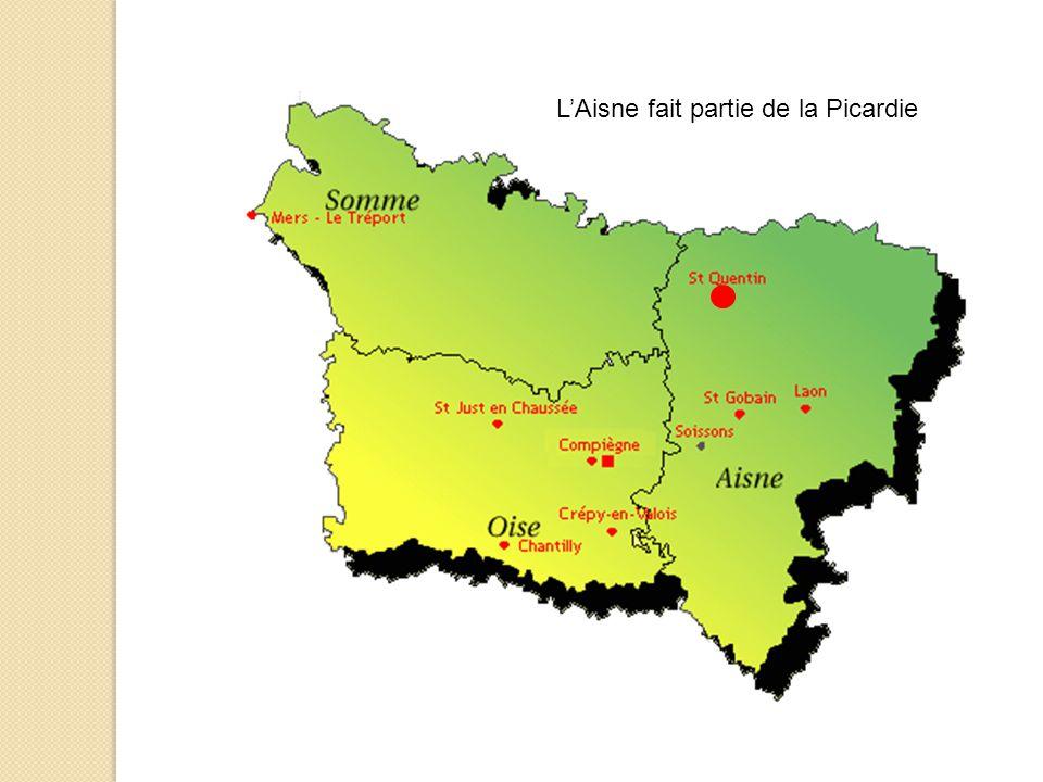 L'Aisne fait partie de la Picardie
