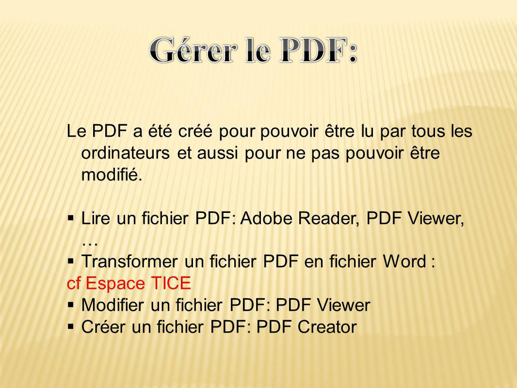 Lire un fichier PDF: Adobe Reader, PDF Viewer, …