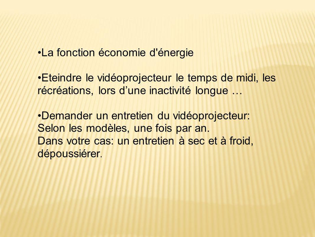 La fonction économie d énergie