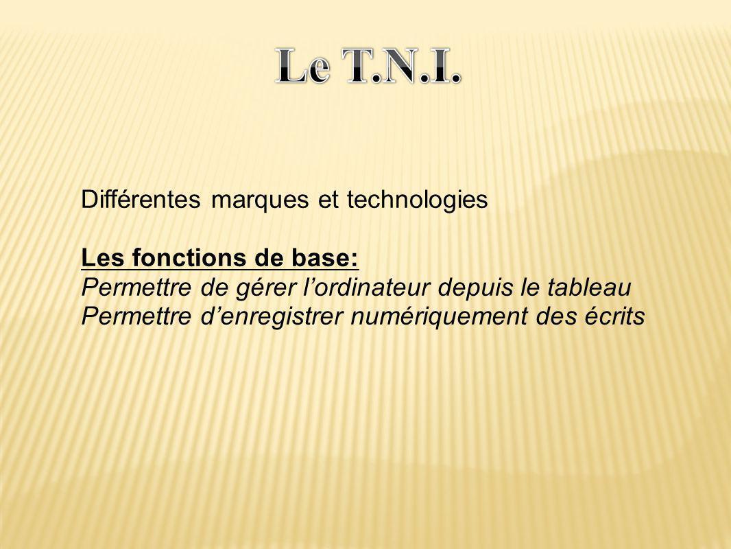 Différentes marques et technologies Les fonctions de base: