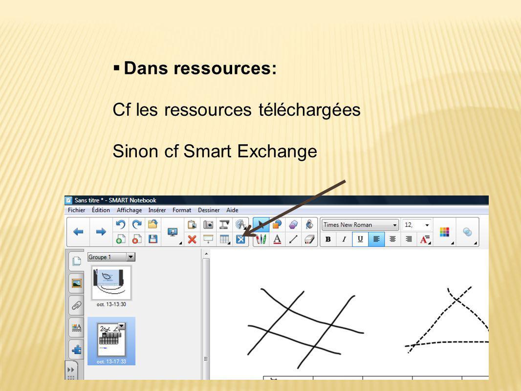 Cf les ressources téléchargées Sinon cf Smart Exchange