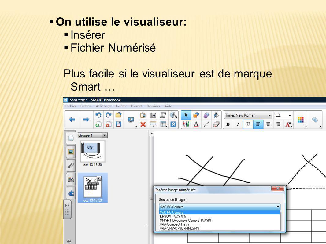 On utilise le visualiseur: Insérer Fichier Numérisé