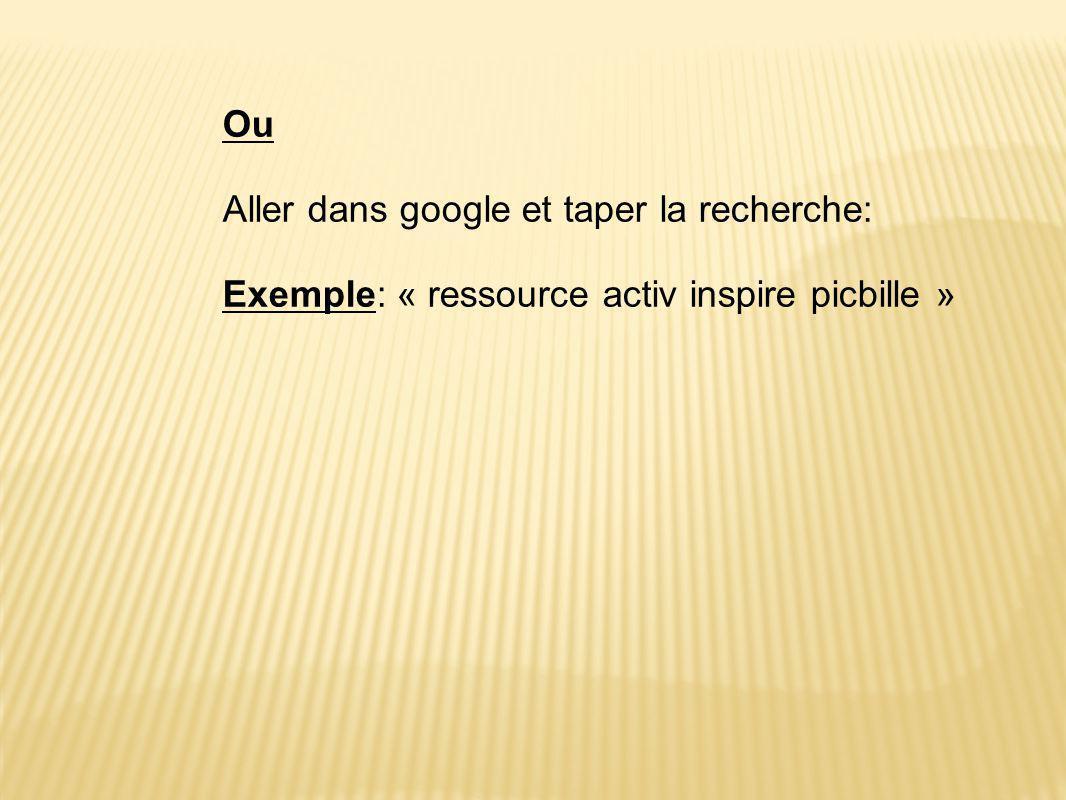 Aller dans google et taper la recherche: