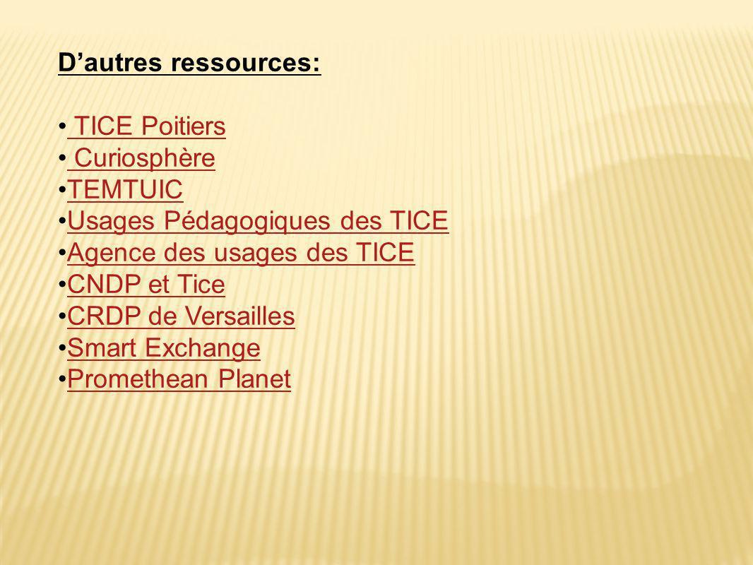Usages Pédagogiques des TICE Agence des usages des TICE CNDP et Tice