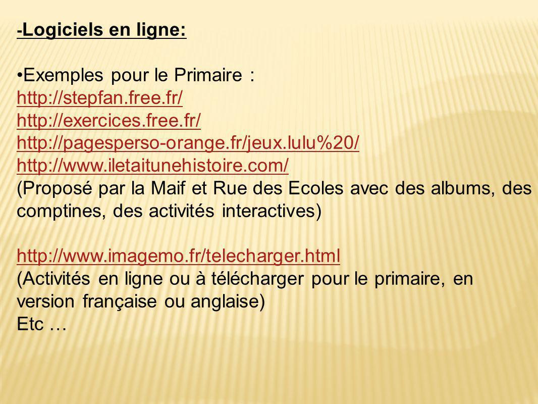 Exemples pour le Primaire : http://stepfan.free.fr/