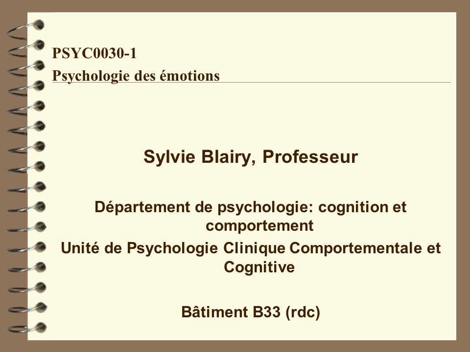 Sylvie Blairy, Professeur