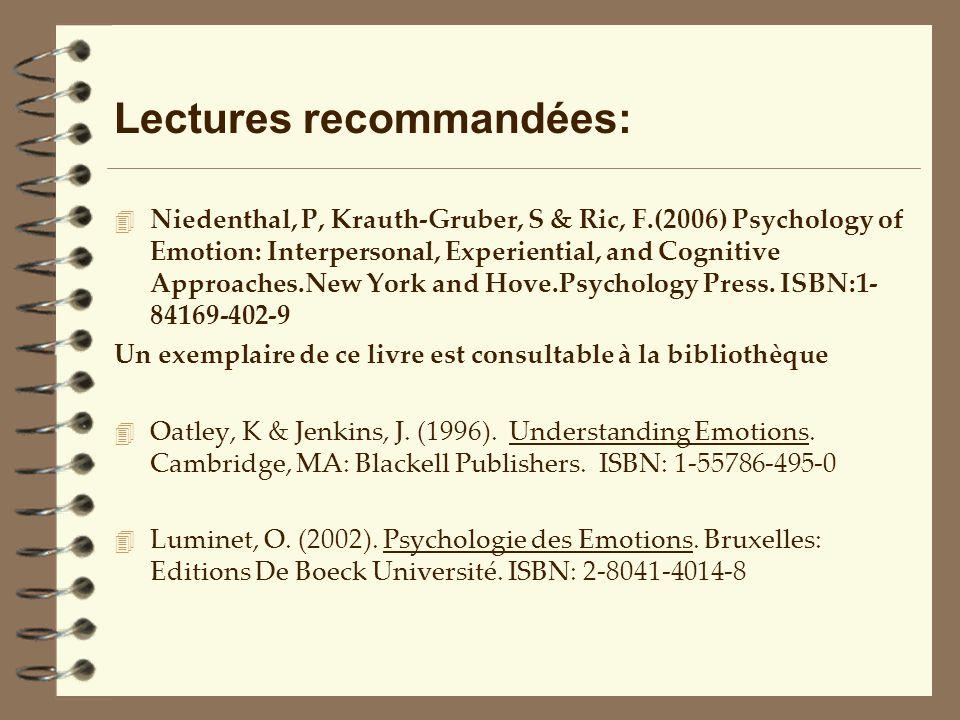Lectures recommandées:
