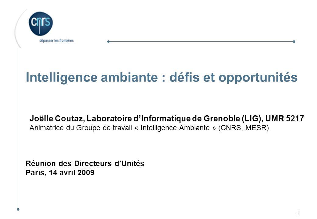 Intelligence ambiante : défis et opportunités