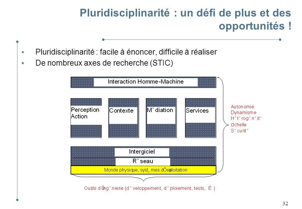 Pluridisciplinarité : un défi de plus et des opportunités !