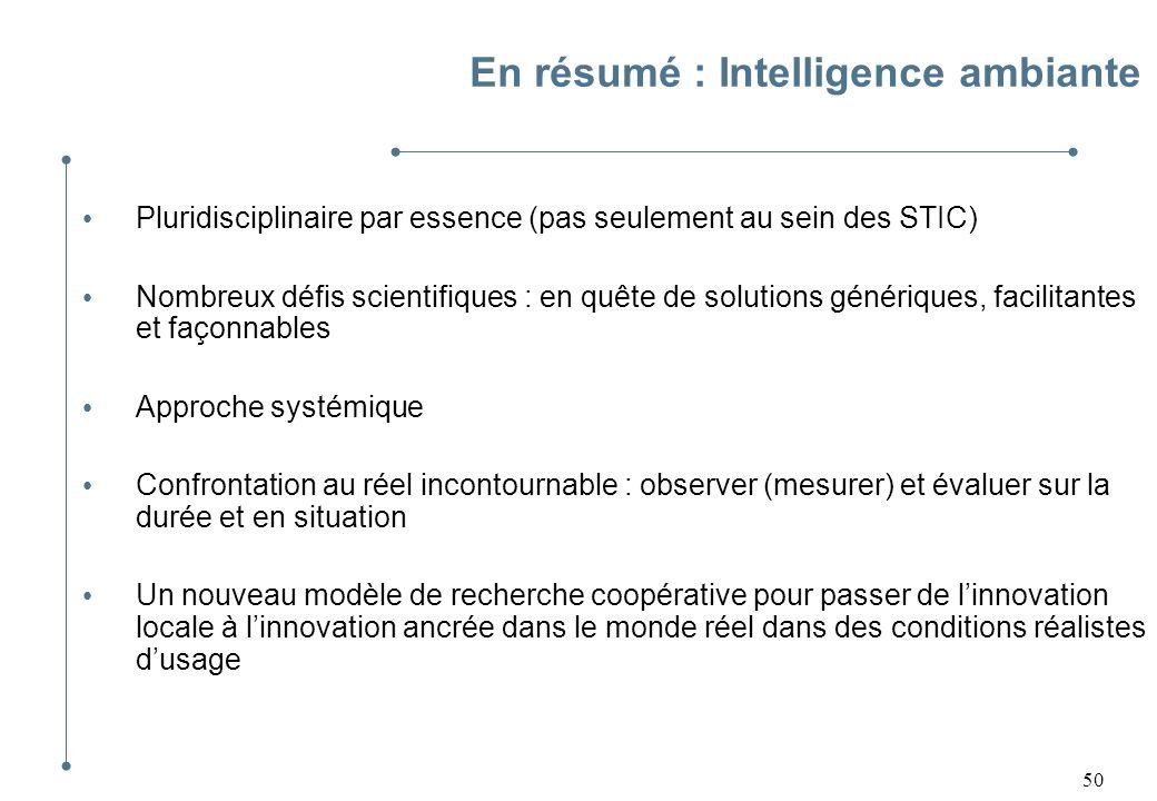 En résumé : Intelligence ambiante