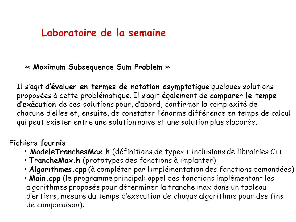 « Maximum Subsequence Sum Problem »