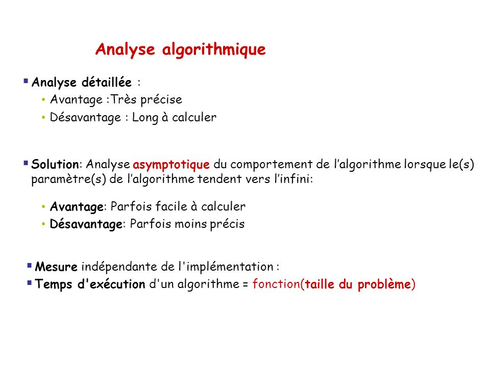 Analyse algorithmique