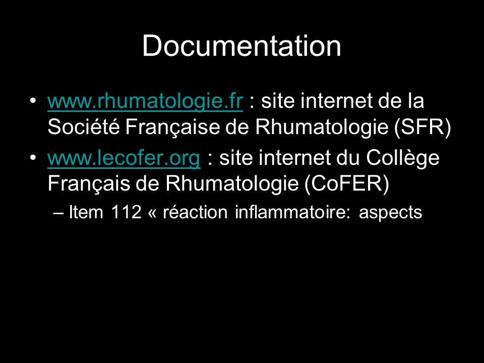 Documentation www.rhumatologie.fr : site internet de la Société Française de Rhumatologie (SFR)