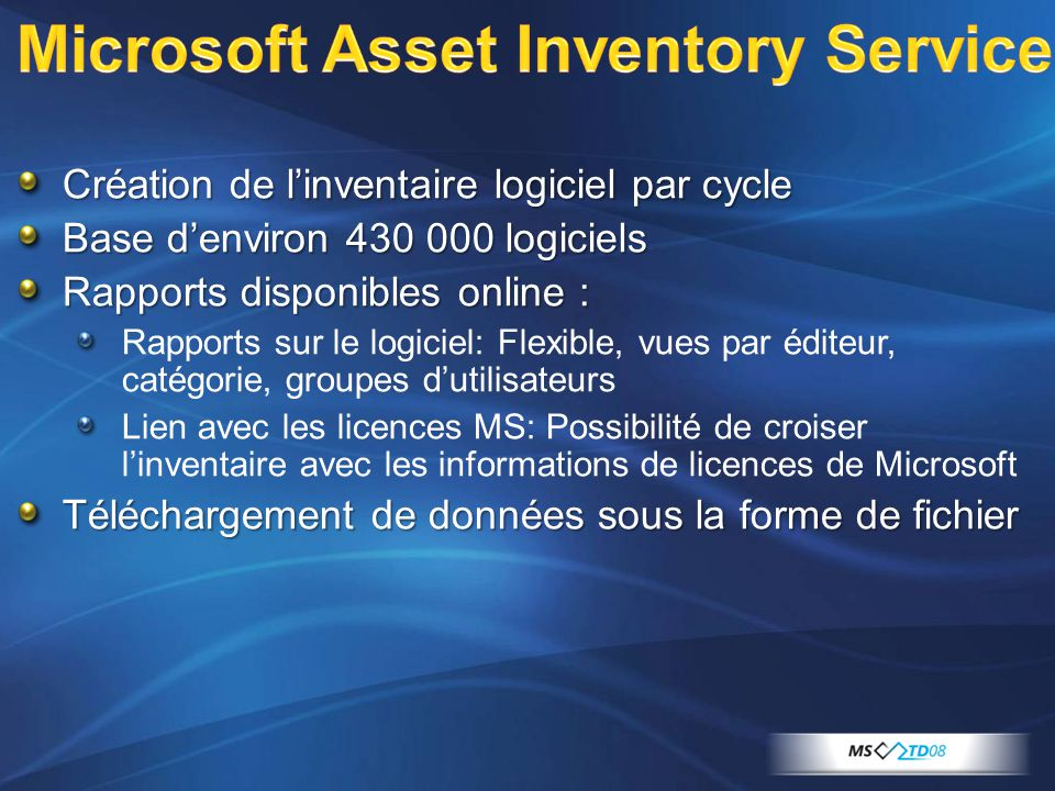 Microsoft Asset Inventory Service