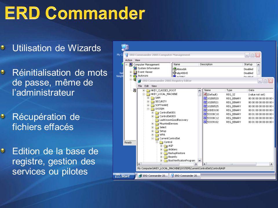 ERD Commander Utilisation de Wizards