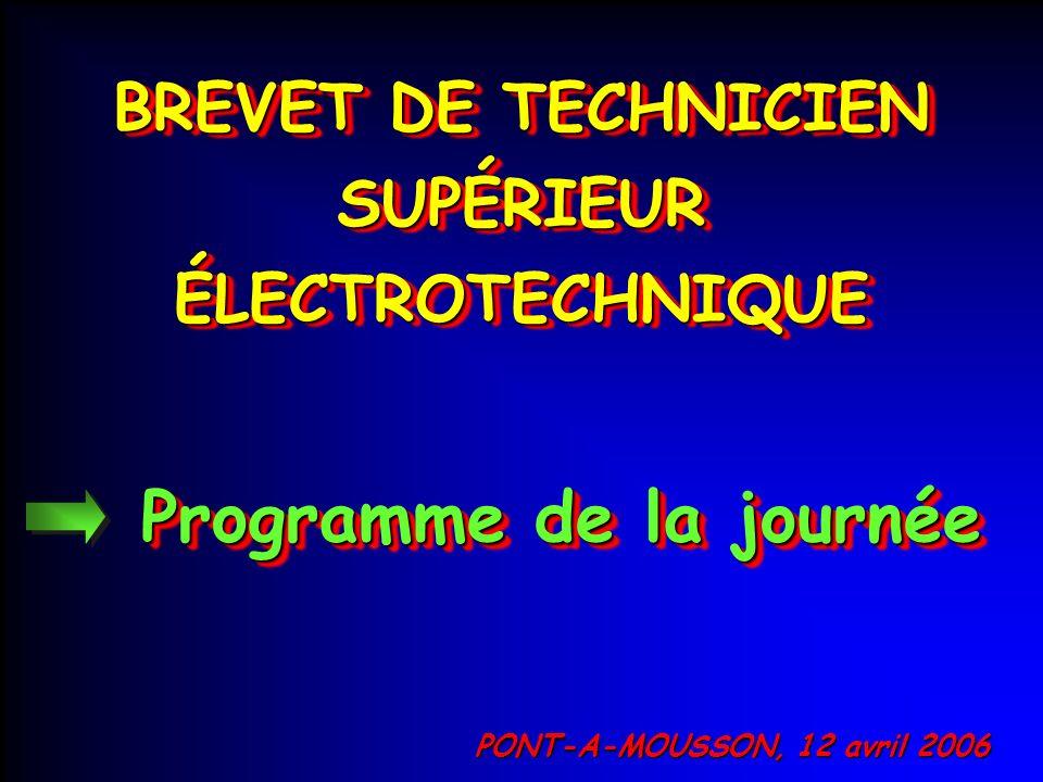 BREVET DE TECHNICIEN SUPÉRIEUR ÉLECTROTECHNIQUE