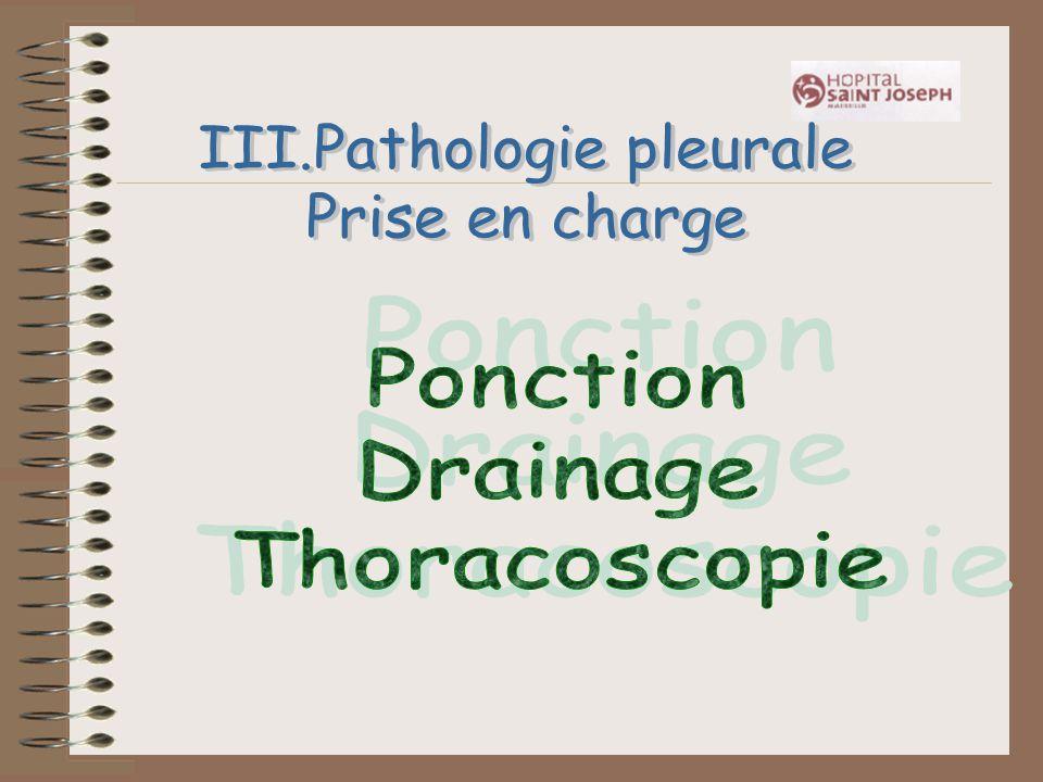 III.Pathologie pleurale