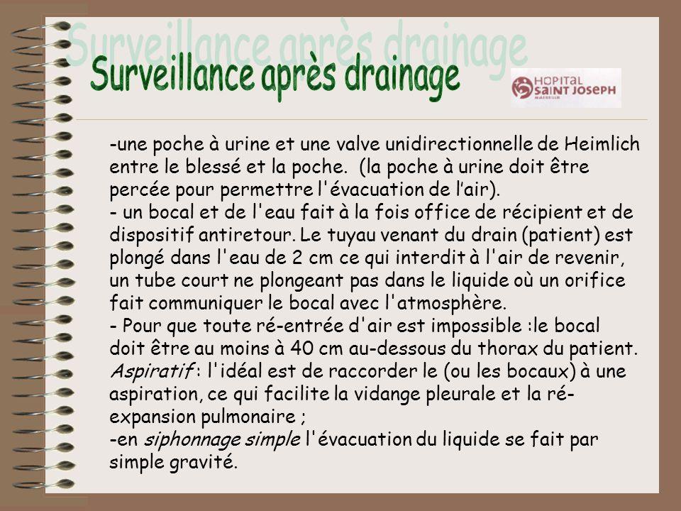 Surveillance après drainage