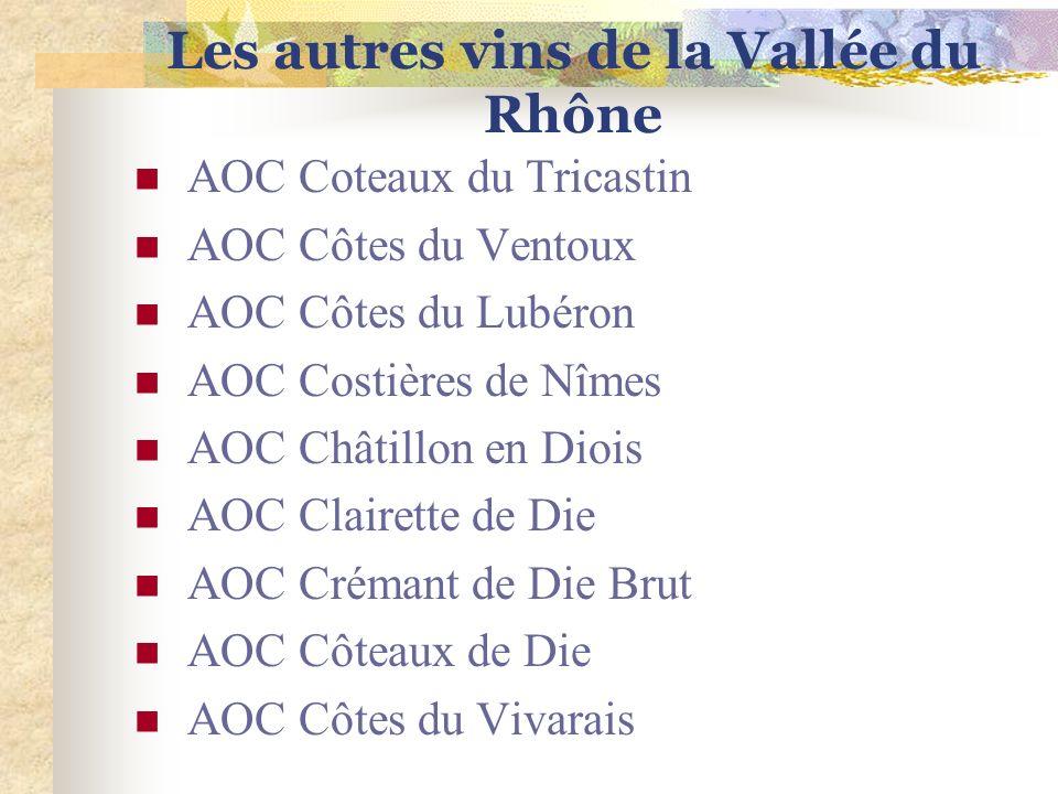 Les autres vins de la Vallée du Rhône
