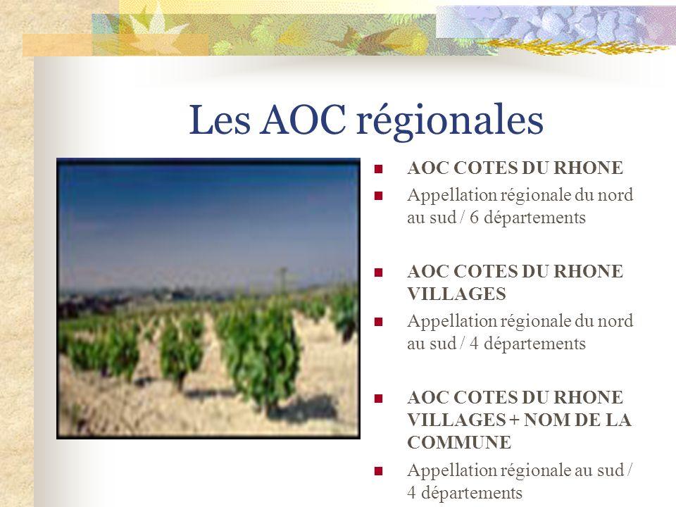 Les AOC régionales AOC COTES DU RHONE