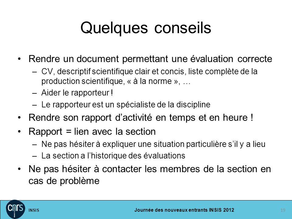 Quelques conseils Rendre un document permettant une évaluation correcte.