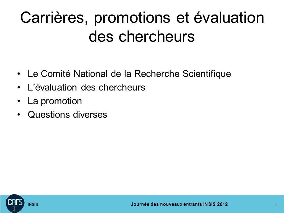 Carrières, promotions et évaluation des chercheurs