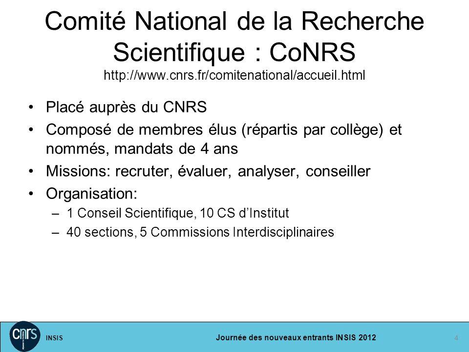 Comité National de la Recherche Scientifique : CoNRS http://www. cnrs
