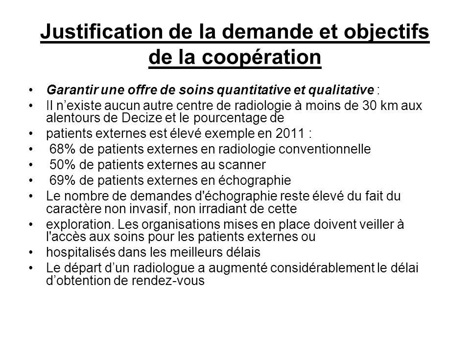 Justification de la demande et objectifs de la coopération
