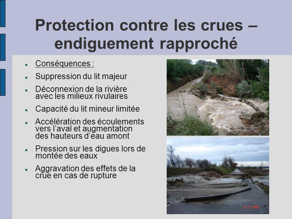 Protection contre les crues – endiguement rapproché