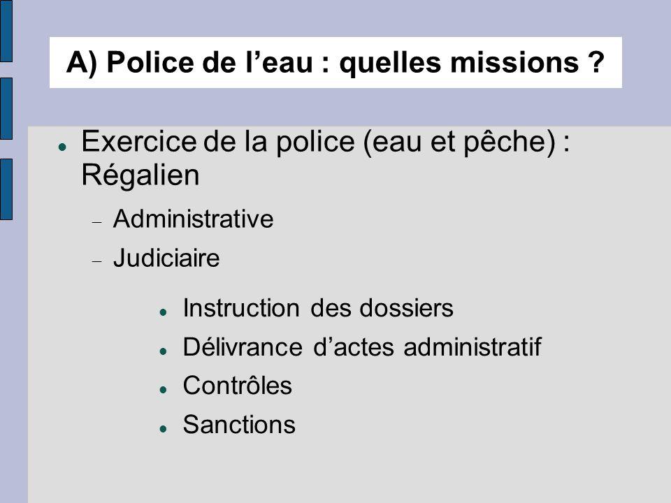 A) Police de l'eau : quelles missions