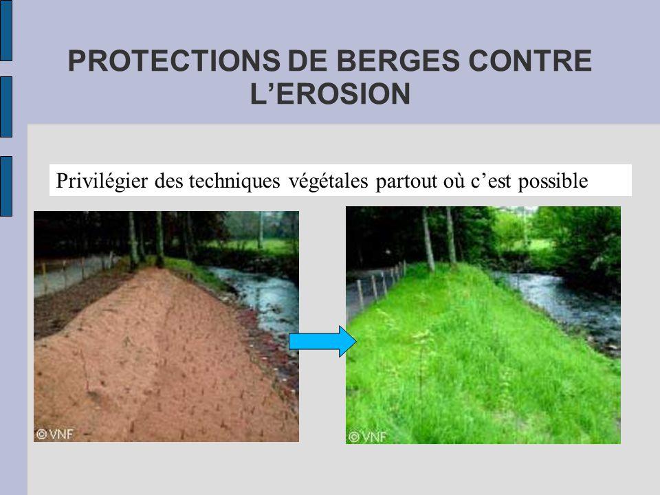 PROTECTIONS DE BERGES CONTRE L'EROSION