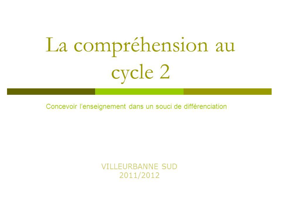 La compréhension au cycle 2