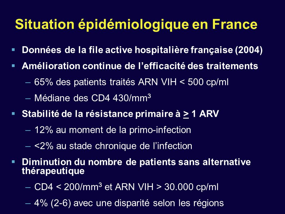 Situation épidémiologique en France