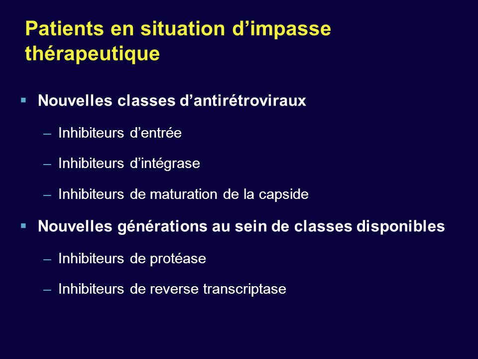 Patients en situation d'impasse thérapeutique
